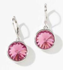 Swarovski Crystal Lulu Earrings In Rose pink New In Box Retail $45