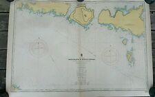 Duck Island To Detour Passage~Lake Huron~1941 Canada Mines and Resources
