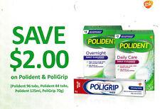 save on POLIDENT POLIGRIP dentures + Bonus [Canada]