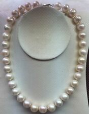 HUGE 11-12mm Australian SOUTH SEA WHITE PEARL NECKLACE 18inch