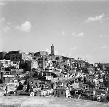 MATERA c.1960 - Panorama Vue sur le Village Italie - Négatif 6 x 6 - ITAL 278