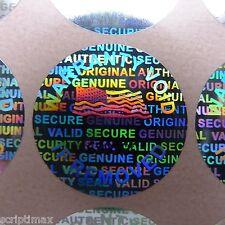 500 ROUND 17 mm serial # TAMPER EVIDENT SECURITY VOID HOLOGRAM LABELS