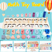 80pcs Kid Montessori Math Toy Learning Counting Board Digital Shape Pairing