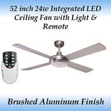 Fias Rotor 52 inch LED Ceiling Fan with Light in Brushed Aluminum and Remote