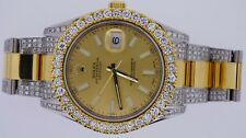 Unused Rolex Datejust 2 II 41mm 116333 Watch Iced Out Diamonds 9 Carat Sparkling
