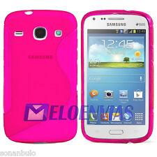 Funda GEL TPU ROSA para Samsung GALAXY CORE i8260 i8262 Diseño S-LINE Case Skin