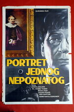 PORTRAIT OF A UNKNOWN MAN ROMANIAN 1960 RARE EXYU MOVIE POSTER