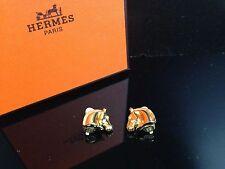 Auth Hermes gold Earring horse motif Ladies 6J140130S