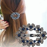 Flower Fashion Crown Flower Ornament Women Accessories Rhinestone Hair Clip
