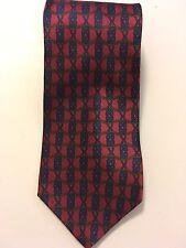 B2G1 FreeMallory&Church London Classic 100% Silk Neck Tie Men's RedBlueGold Geom
