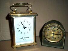 pieces horlogerie PENDULE D'OFFICIER WIDDOP england clé 6 + ancien BAYARD lion
