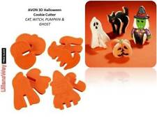 Avon Halloween Bruja Cookie Cutters ~ 3D, Ghost Calabaza Gato ~ Hágalo usted mismo 3D Goth Cookies