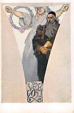 1920? sgd. Mucha Art Nouveau Fidelity Vernost post card