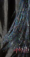 """NEW 40"""" Hair Tinsel 100 Strands – Sparkling Stellar Midnight Black"""