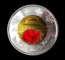 2018 Canada  Armistice (color) Toonie,  $2   UNC. from roll