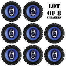 Lot of 8 NEW Pyle 6.5'' 360 Watt Three-Way Car Three-Way Triaxial Speakers