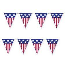FESTONE BANDIERINE USA AMERICA 5 METRI BANDIERA AMERICANA CALCIO MONDIALI
