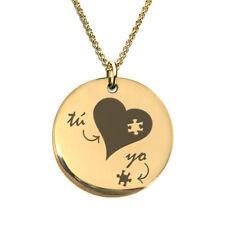 18 K Gold Plated Necklace Dijes Tú y Yo Corazón de Oro - Regalo San Valentín