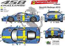 [FFSMC Productions] Decals 1/32 Ferrari F-458 Challenge Hendrik Hedman (2012)