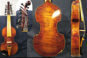 """Baroque style song Master 7×7 strings 16"""" Viola d'Amore,powerful sound #13086"""