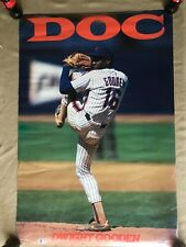 RaRe. vintage Dwight Doc Gooden poster New York Mets MLB baseball pitcher (1990)