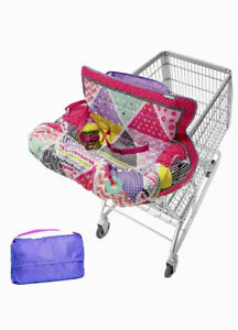 Baby Cart Cover by Infantino | Pink Compact Seat for Kids Adjustable Safety Belt