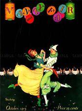 MAGAZINE COVER CLOWN COSTUME DANCE WALTZ BALLROOM FLOOR USA POSTER PRINT LV1813