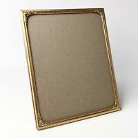 8 x 10 Brass Antique Vintage Picture Frame Standing Easel Gold Tone Red Back