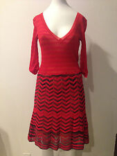 Authentic Missoni Knit Crochet Red Long Sleeve Dress!!! used once!!!