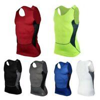 Men's Gym Running Sports Compression Wear Base Layer Tank Tops Vest Under Shirt