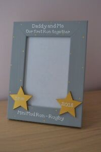 Personalised handmade photo frame -  Daddy and Me Our first run together gift
