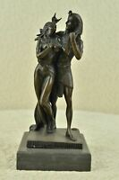 "Egyptian Pharaoh amp; Queen Nude Bronze Sculpture Statue Art 10"" x 5"""
