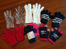 Assorted Lot of 7 pairs of Ladies Gloves Small 2 new pair and one driver's