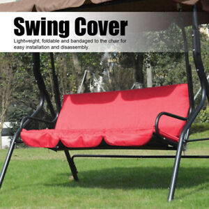 Outdoor Swing Cushion Cover 3 Seater Waterproof Swing Seat Pads Cover Replacemen