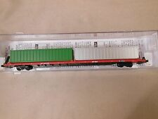 """N Scale Micro-Train Line Canadian Pacific 89' 4"""" Cofc Flat Car W/Containers"""