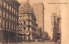 Baltimore Maryland Baltimore Street Antique Postcard J65860
