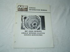Massey Ferguson tractors Mf2000 series spring clutch cover service info manual