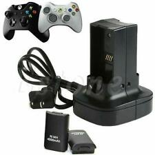Dual Battery Charger Station Charging Holder for Microsoft Xbox 360 Controller