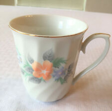 Lynns fine China Mimosa pattern coffee cup with gold trim crystal fine china