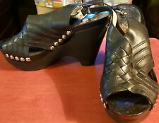 Michael Kors Women's Black Leather Upper Studded Rubber Shoes Size 7.5
