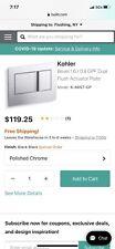Kohler Bevel Inwall Tank Face Plate Polished Chrome 8857Cp *New* Open Box