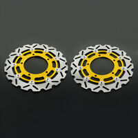 2PCS Front Floating Brake Disc For Suzuki GSR400 GSR600 DL650 GSF650 Bandit