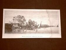 Le rive del fiume Po Quadro di Ghisolfi del 1876