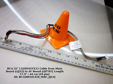 """RCA 32"""" L32HD31YX12 Cable from Main Board @[J12] to AV Board @[P701] Length 17.5"""