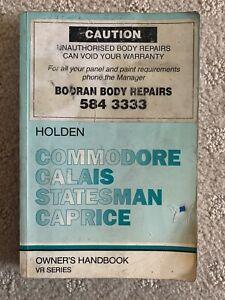 Holden Commodore Calais Statesman Caprice VR Owners Handbook Manual Decembe 1994