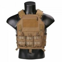EMERSON TACTICAL VEST 420 PLATE CARRIER COYOTE BROWN EM7362CB TATTICO SOFTAIR