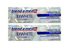 2x BLEND A MED 3D WHITE LUXE PERFEKTION 75ml Zahnschmelzschonende Zahncreme