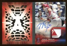 2016 TOPPS MIKE TROUT AUTO LASER BOOKLET #D /10 ADDIDAS LOGO PATCH AMAZING MINT