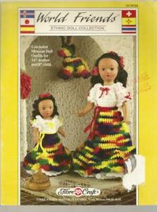 World Friends Ethnic Doll Collection Mexican Doll Crochet 2 Size