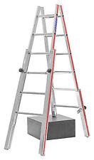 Treppenstehleiter 2x6 Spr. AHmax 3,00m mit 4 verstellbaren Holmen Hymer 412312